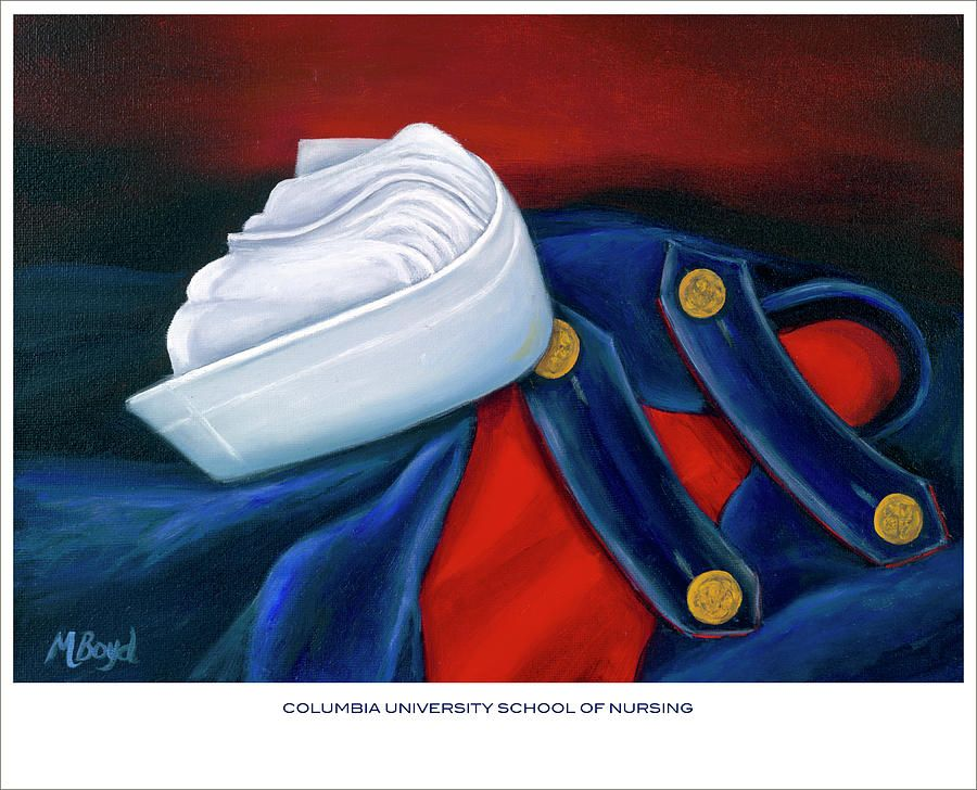 Nurse Painting - Columbia University School Of Nursing by Marlyn