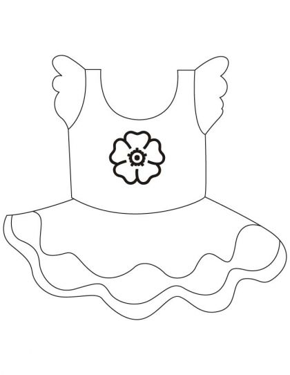 Short Frock Coloring Pages Download Free Short Frock Coloring