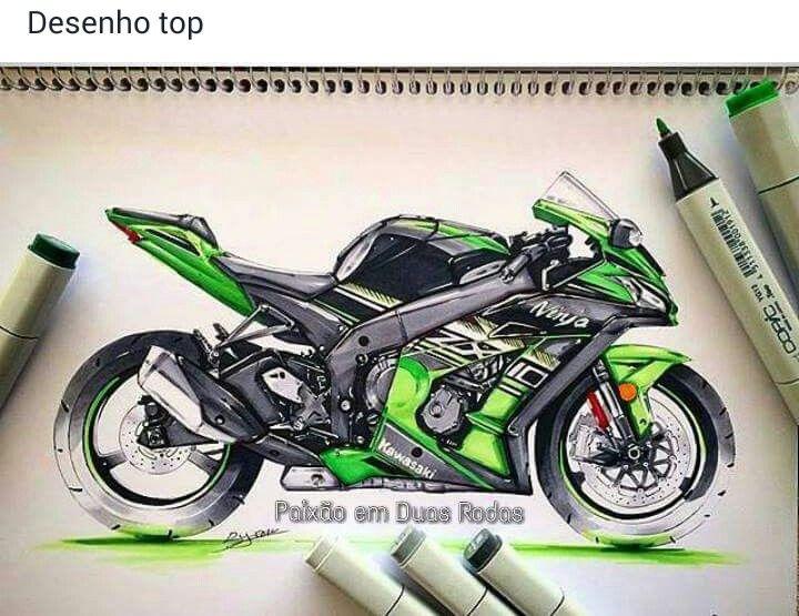 Kawasaki Ninja Bike Drawing - Kawasaki Ninja US