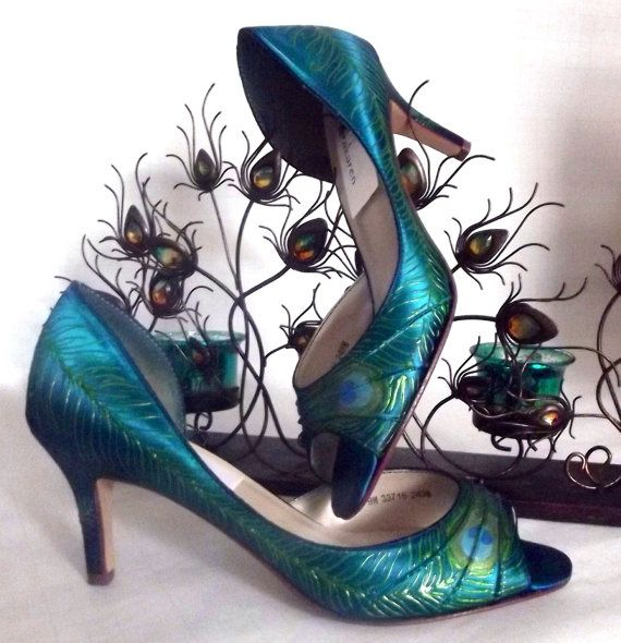Peacock Wedding Shoes Peacock Feather Painted Shoes Spectacular Teal Shoe Unique Peacock Shoes Sale Shoes Norakar Teal Shoes Wedding Shoes Peacock Shoes