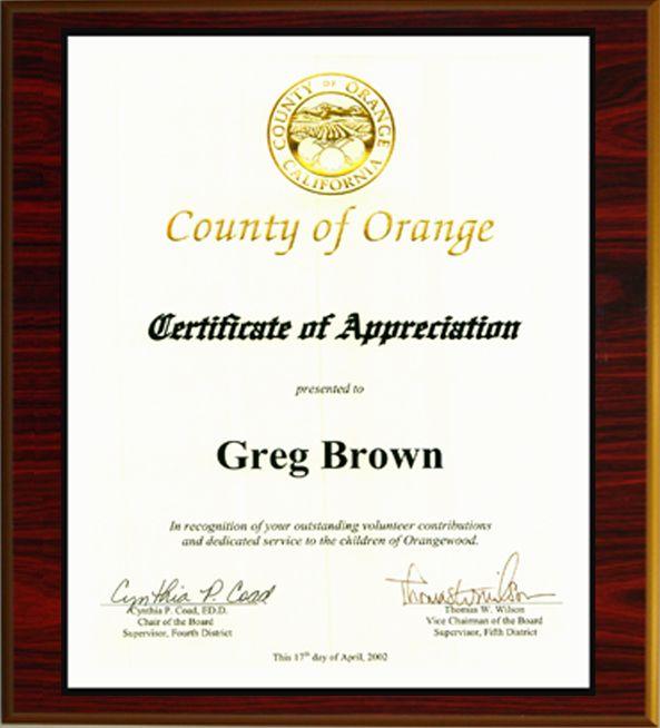 Irvine Business Litigation Lawyer Gregory G Brown Receives