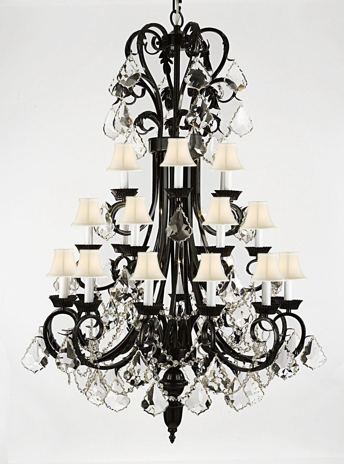 Spectra trimmed crystal wrought iron chandelier lighting 50in tall spectra trimmed wrought iron chandelier lighting 50in tall with reliable quality by swarovski arubaitofo Images