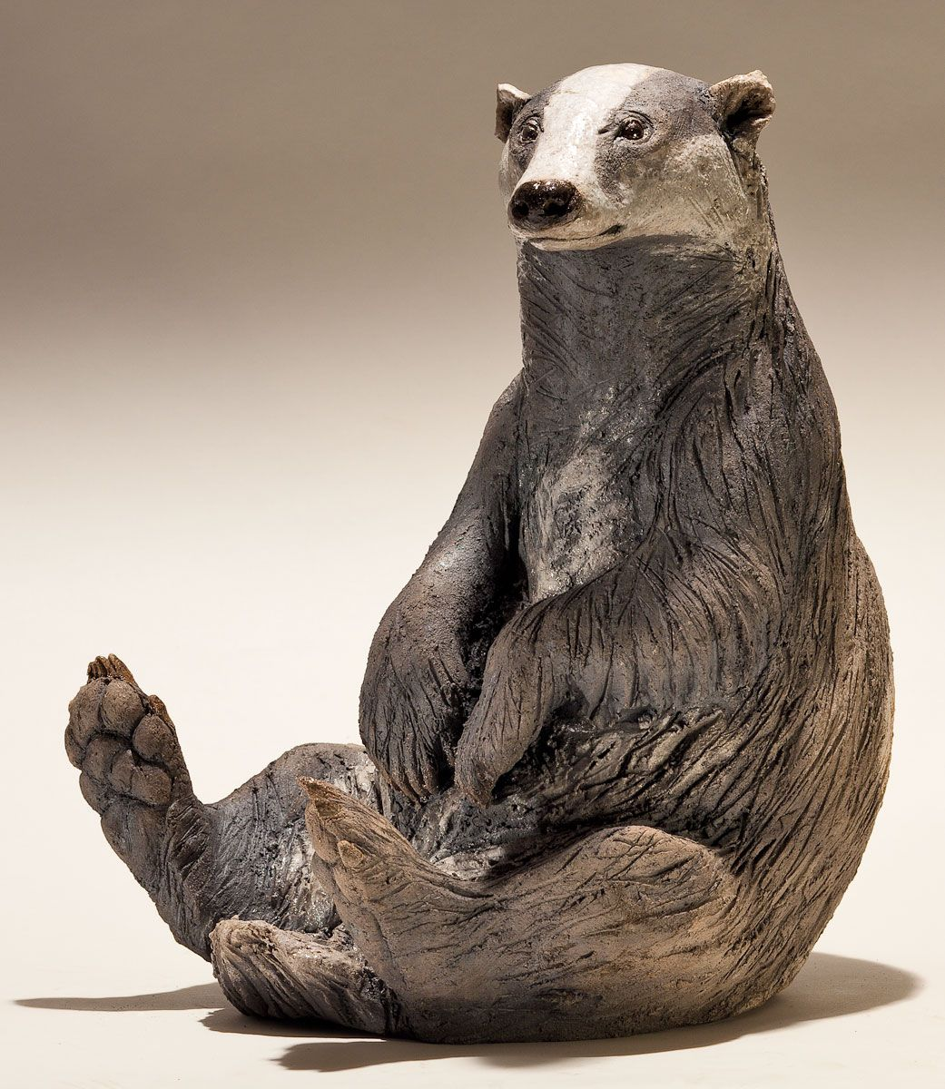 Badger Sculpture - Nick Mackman Animal Sculpture