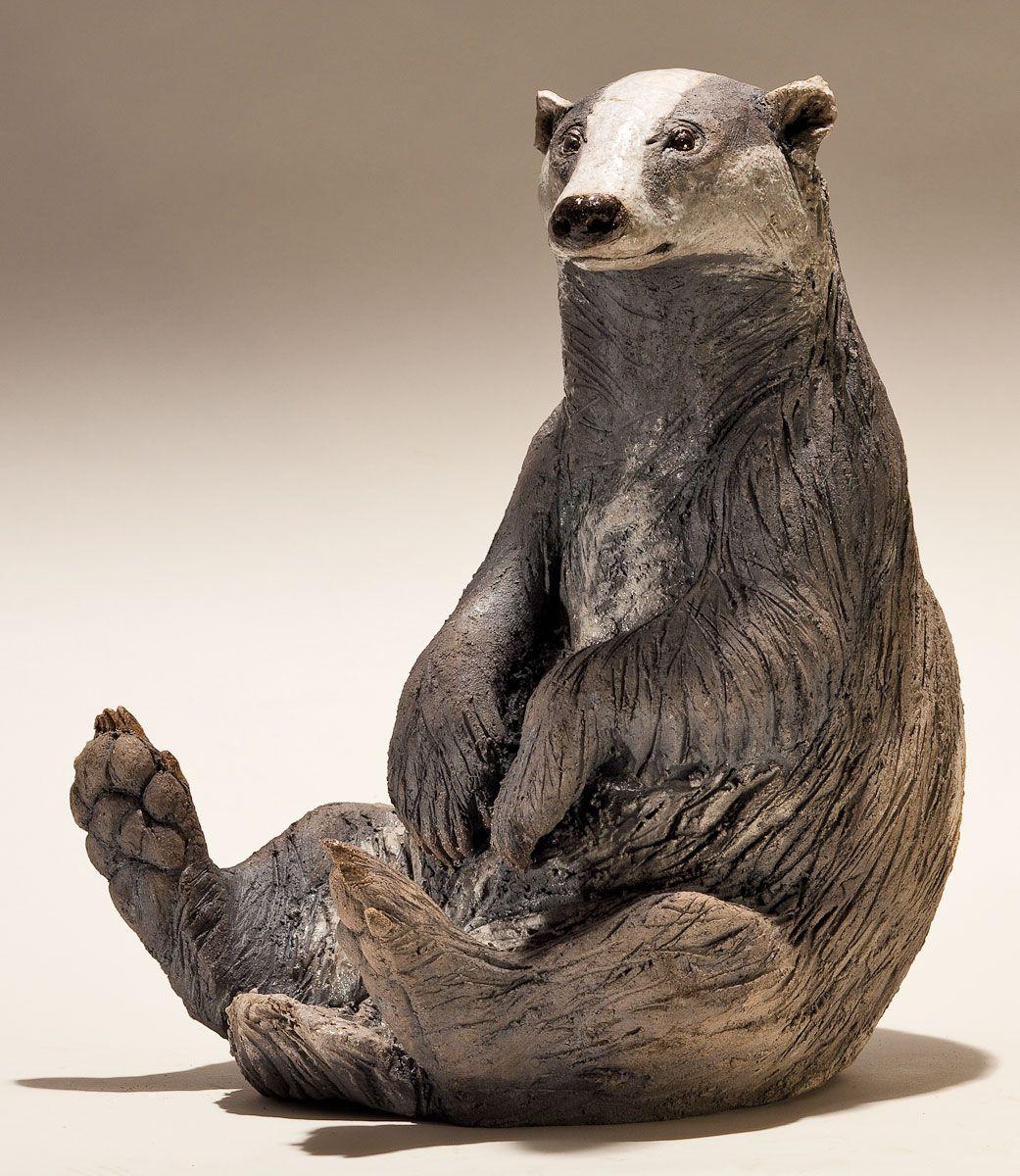 Badger Sculpture - Nick Mackman Animal Sculpture