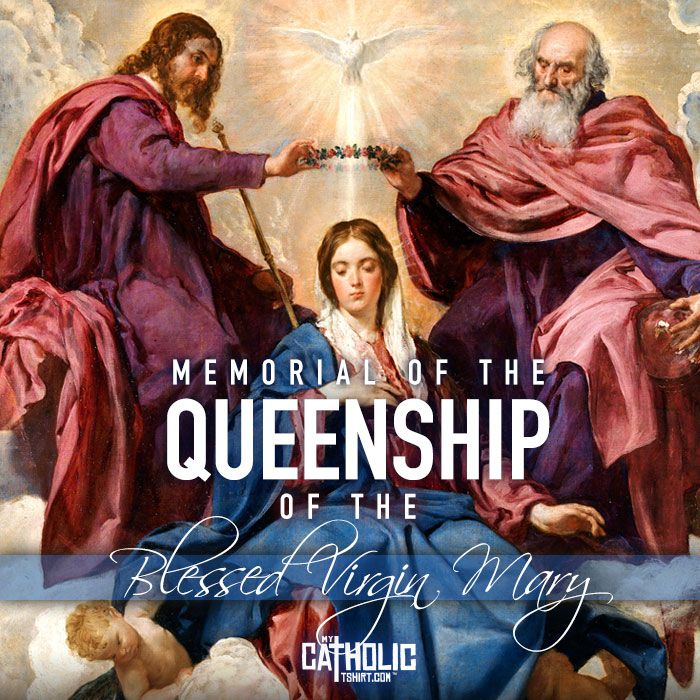 Today we celebrate the Memorial of the #Queenship of the Blessed Virgin Mary…