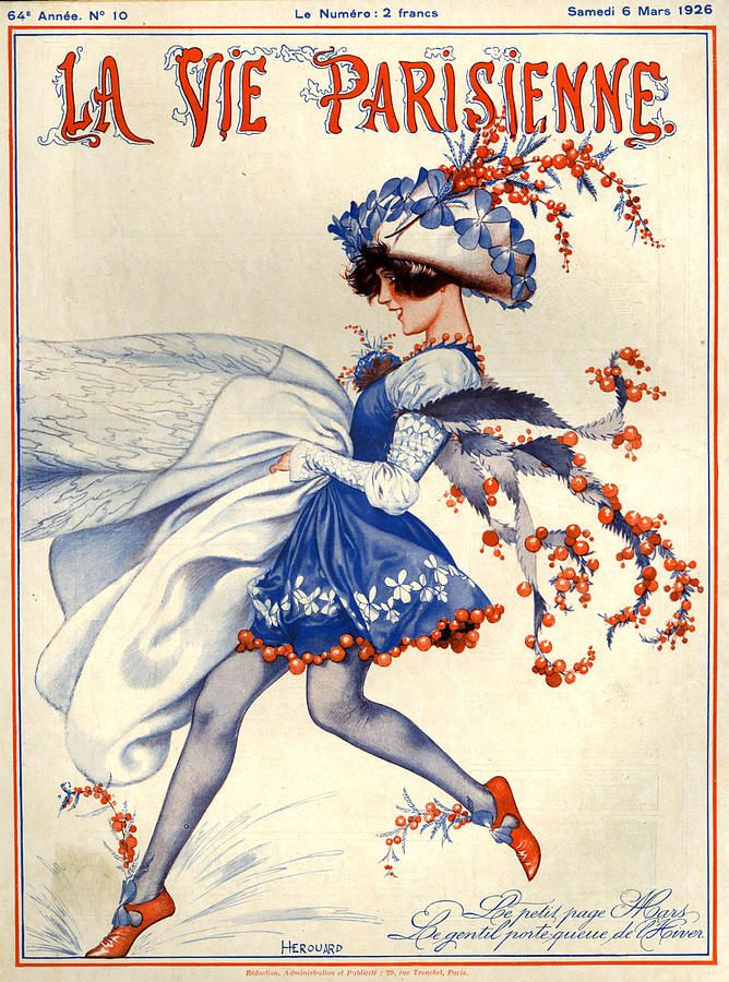 1920s France La Vie Parisienne Magazine Canvas Print / Canvas Art by The…