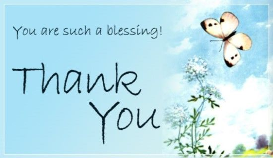Send This Free Thank You Ecard To A Friend Or Family Member Send