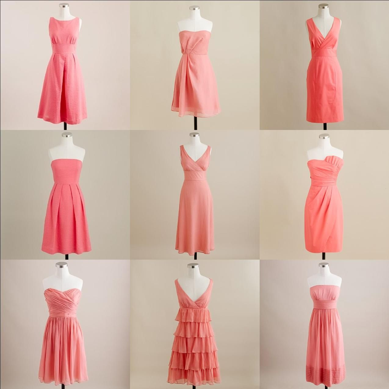 Mismatched coral j crew bridesmaids dresses jcrewdresses black mismatched coral j crew bridesmaids dresses in grey for britts wedding ombrellifo Choice Image