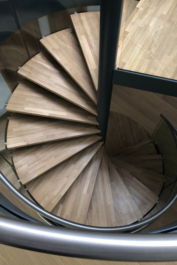 Best Beautiful Oak Treads On One Of Our Latest Spiral Staircase 400 x 300