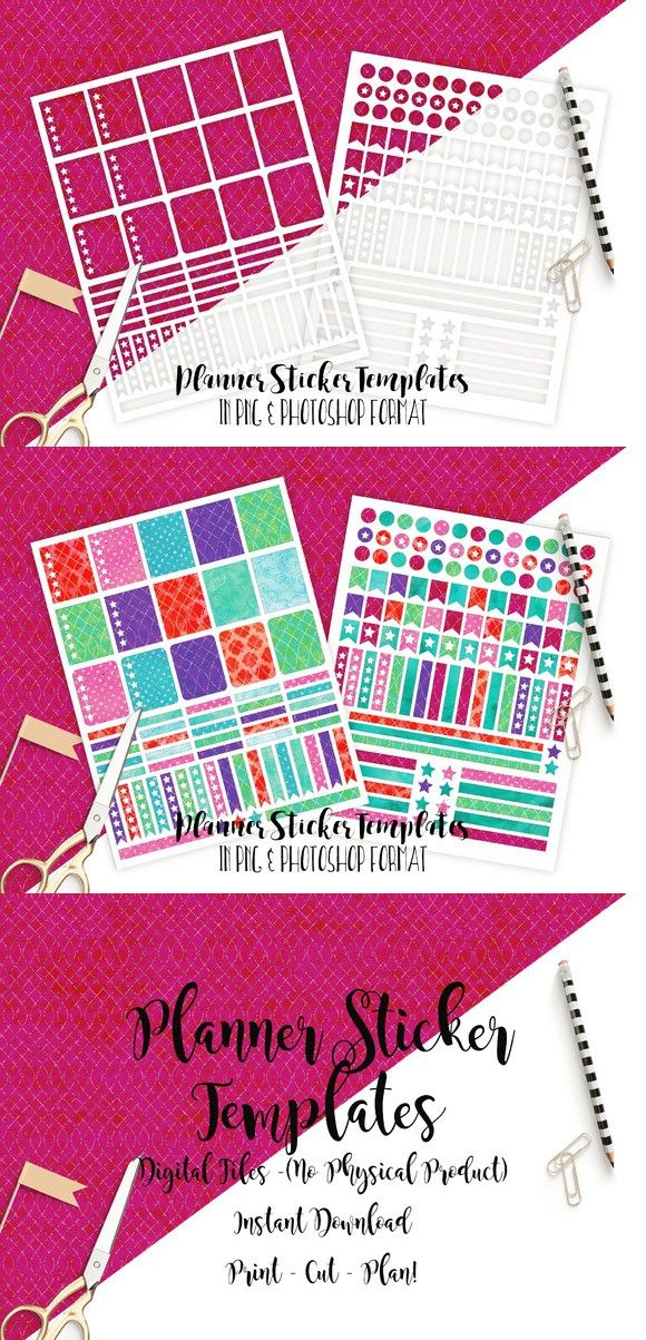 Planner Sticker Templates Photoshop Photoshop and Template