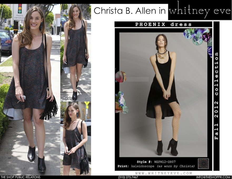 Christina B. Allen rockin the Phoenix dress