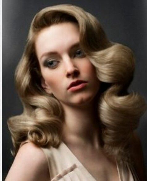50s style hair waves large curls ideas for a 50s wedding vintage curls 3445 | 334d3c949cb819ab005254d822e9004d