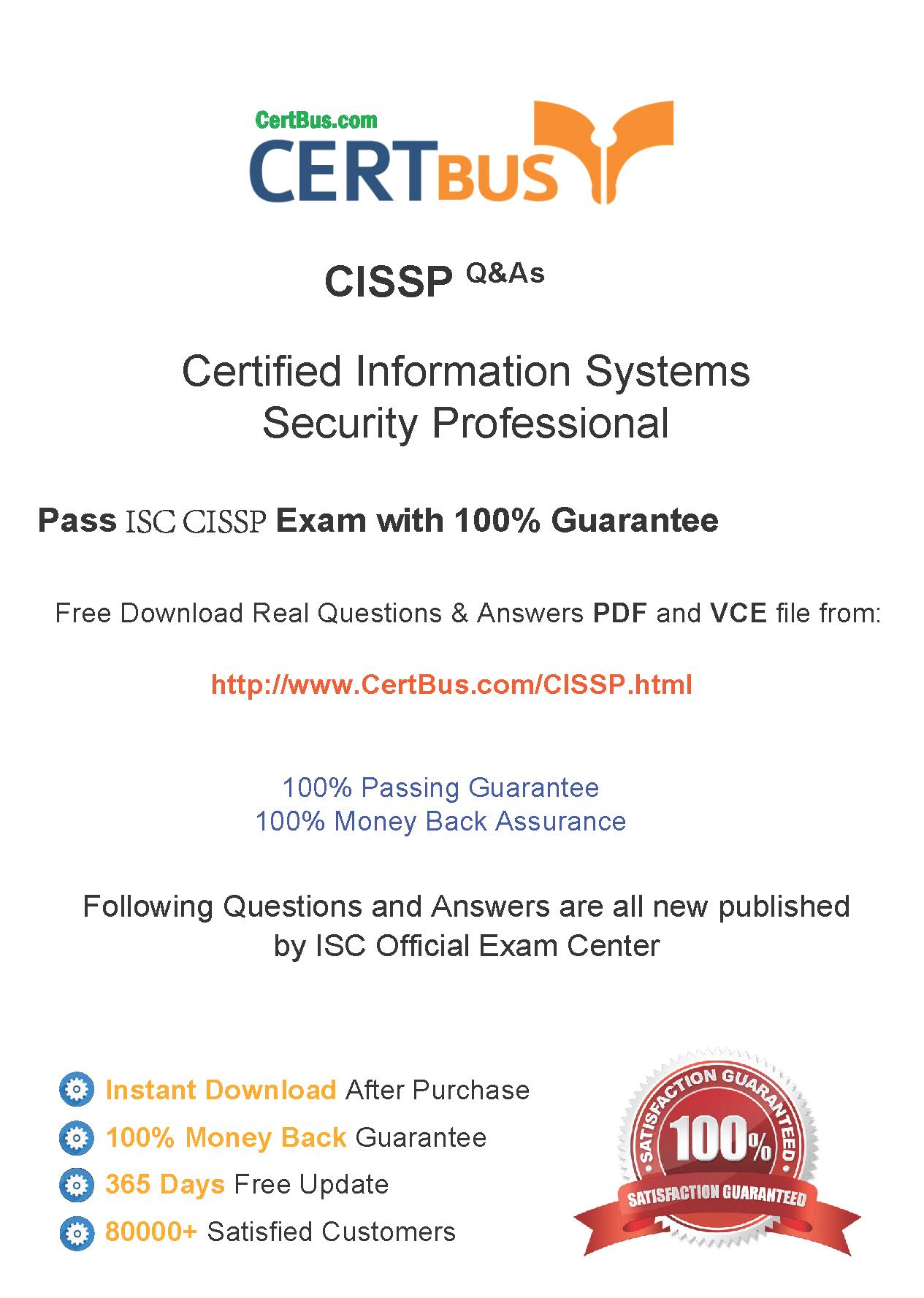 Certbus Isc Cissp Free Pdfvce Exam Practice Test Dumps Download