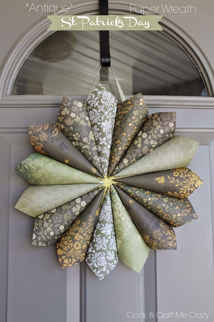 Antique St. Patrick's Day Paper Wreath Paper wreath