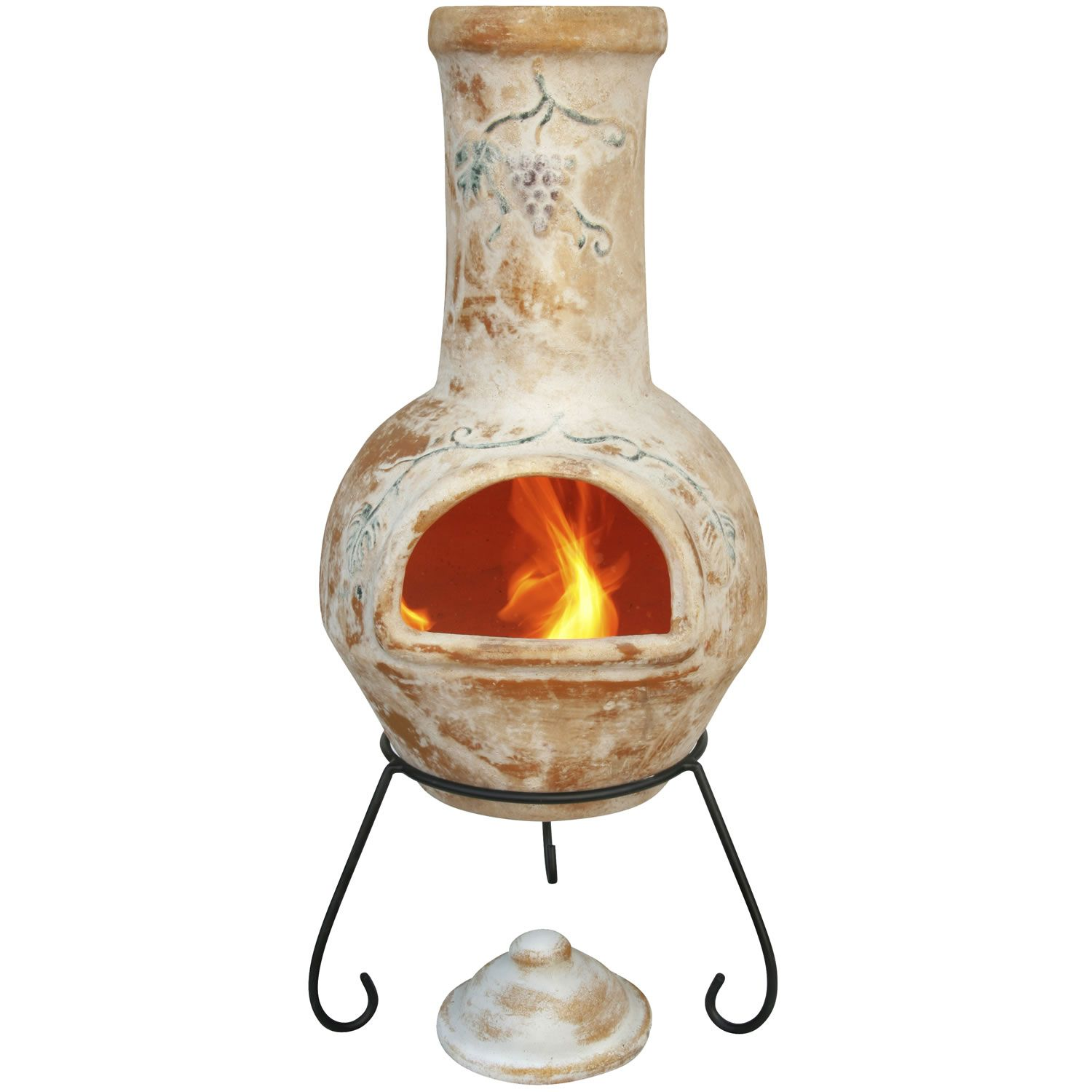 a charming chiminea that has been hand made with clay a 35 99 http