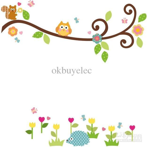 wall decals trees and owls cute owl on tree clipart cute owl tree rh pinterest com Flying Owl Clip Art Flying Owl Clip Art