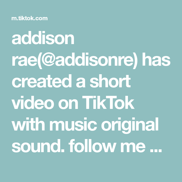 Addison Rae Addisonre Has Created A Short Video On Tiktok With Music Original Sound Follow Me On Insta For More 3 Music Blog Sell Music Online Addison