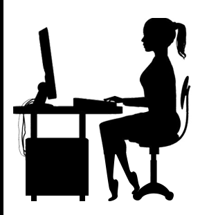 Gamer Girl On Computer Human Silhouette Silhouette