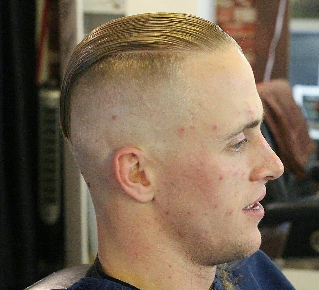 ultra high and tight slick back | haircuts for balding man