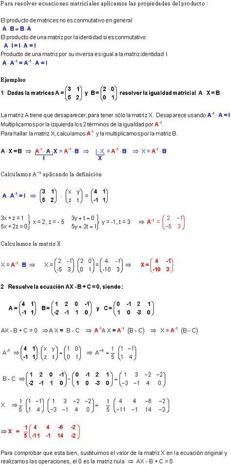 Ecuaciones Matriciales. | circunferencia | Pinterest | Ecuación ...