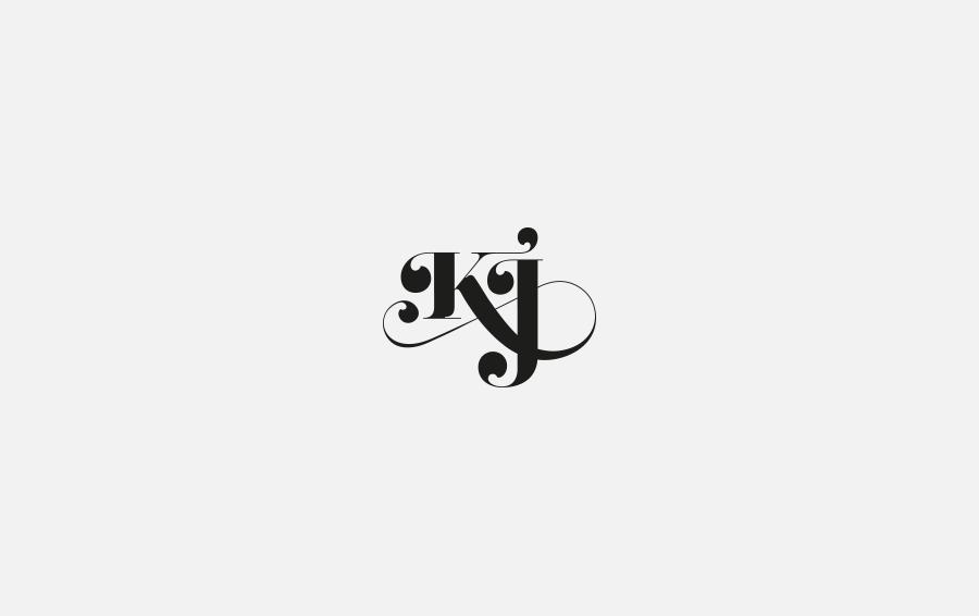 Negation Studio Logo Kj Logo Set Typography Logo Wedding Logo Monogram