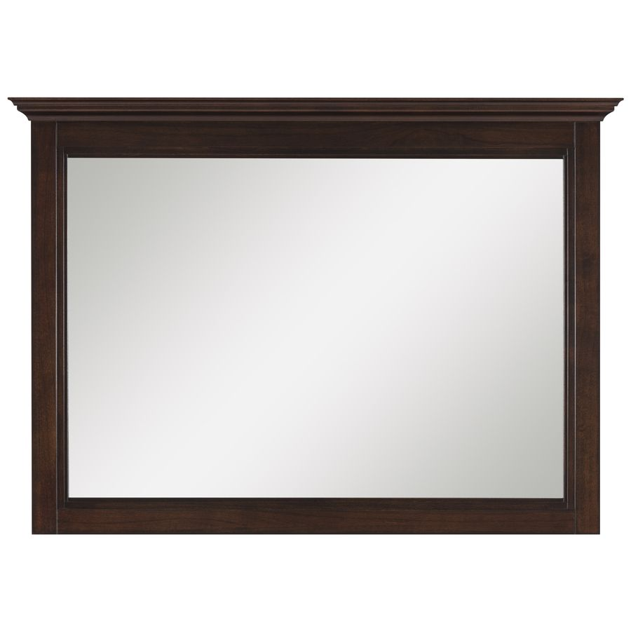 Photo Gallery In Website allen roth Eastcott W x H Auburn Rectangular Bathroom Mirror