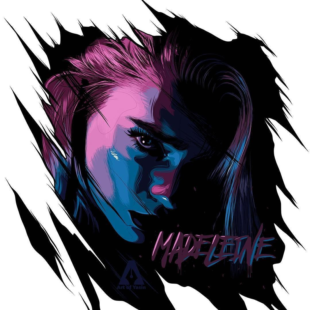 Madeleine Michael illustration work @madeleinemichael #illustration #digitalart #artwork #adobedraw #artofyasin #ipadproart #portrait #instaart #instaartist #myart #digitaldrawing #madeleinemichael #beauty #typography #horror #gothic #colorsofthenight #thanksforwatching