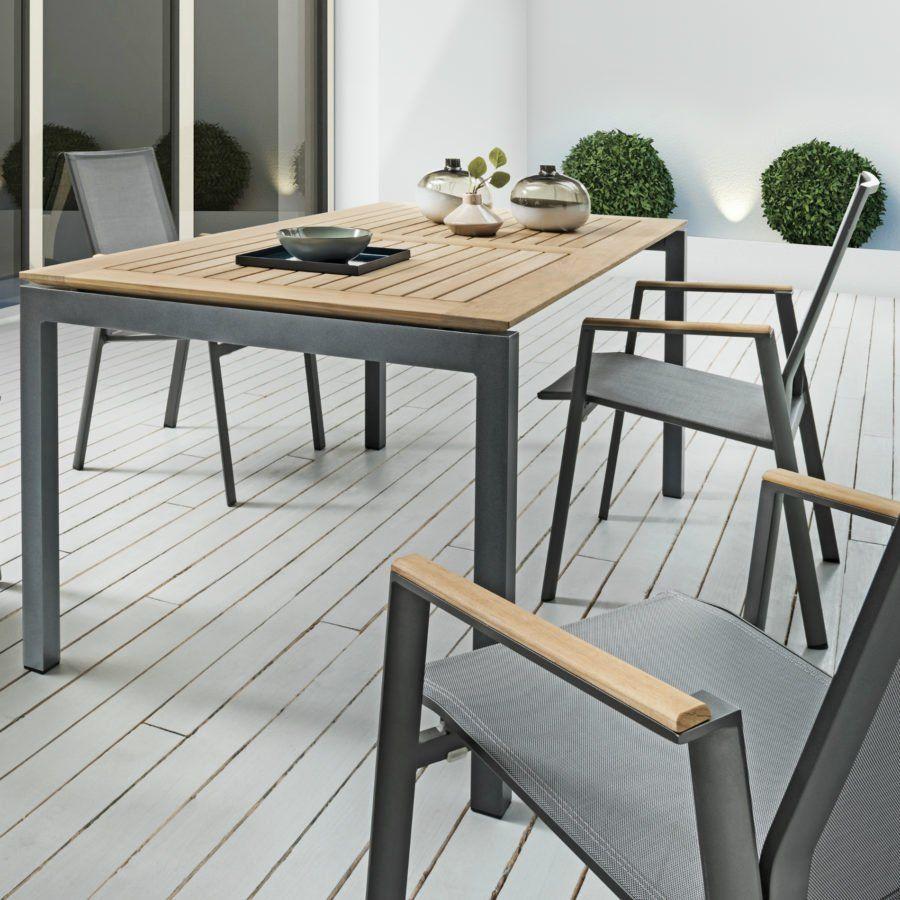 Sit Mobilia Etna Ausziehtisch Tischsystem Aluminium Teak In 2021 Ausziehtisch Ausziehbarer Gartentisch Outdoor Mobel