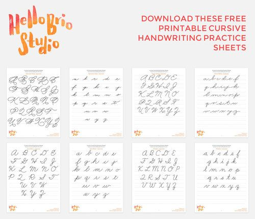 Discover your hand lettering style with cursive | Práctica de ...