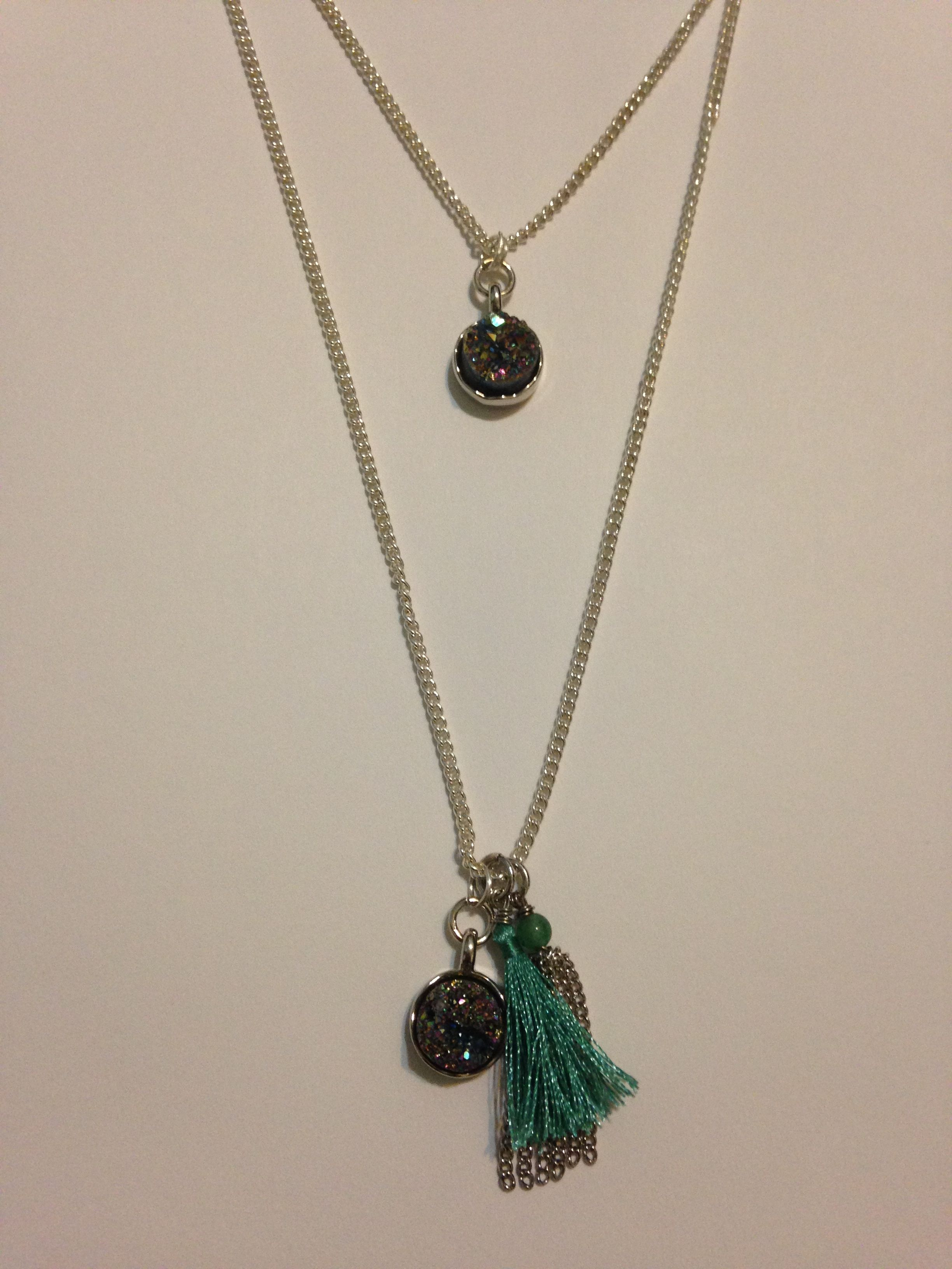 Made this out of just pendants I bought chain and wire! So easy and ...