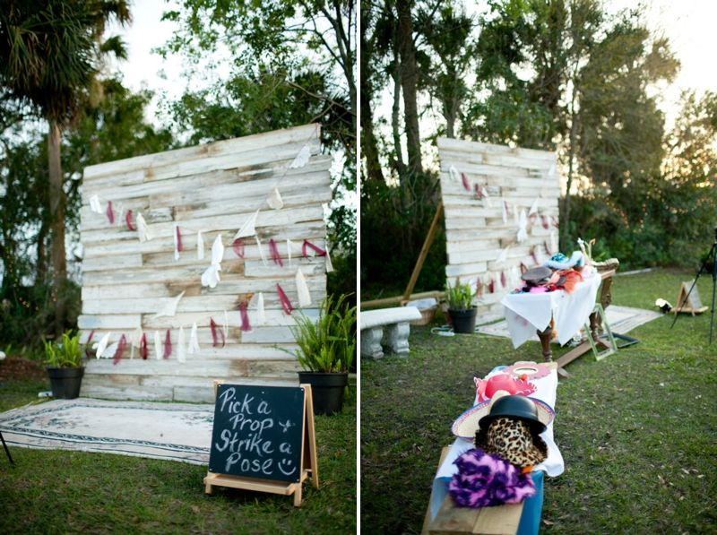 cool photo booth backdrop // photo by Krista Marie Photography ...