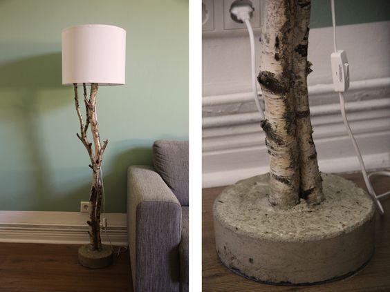 Lampe Birke Diy Stehlampe Selber Bauen Stehlampe Holz Diy Mobel Ideen