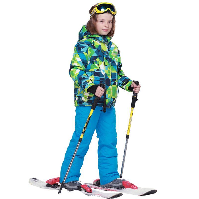 4881390db Winter Waterproof Windproof Ski Sets Boys Kids Ski Jacket Snowboard ...