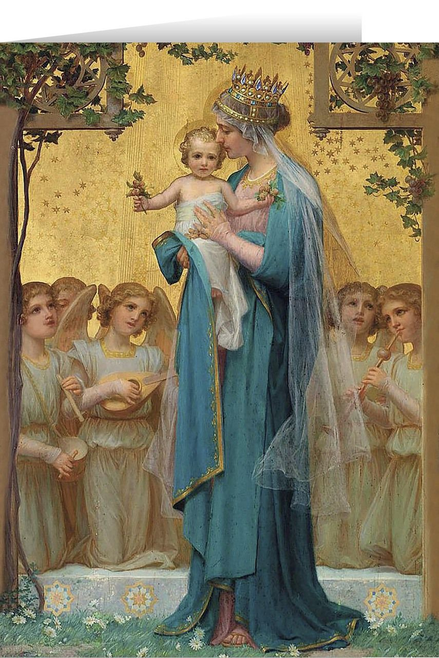 Madonna And Child By Enric M Vidal Christmas Cards 25 Cards R