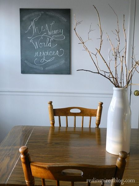 Diy Chalkboard Canvas Diy Chalkboard