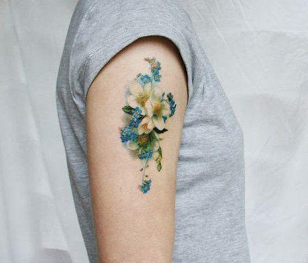 6 Flower temporary tattoos