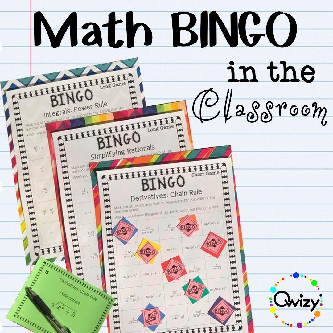 Math Bingo In The Classroom In