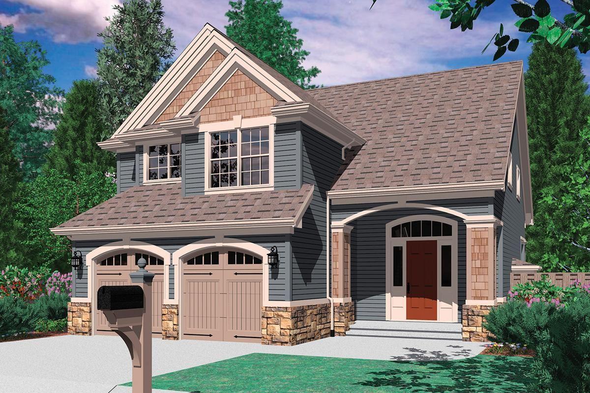 House Plan 255900243 Narrow Lot Plan 1,500 Square Feet