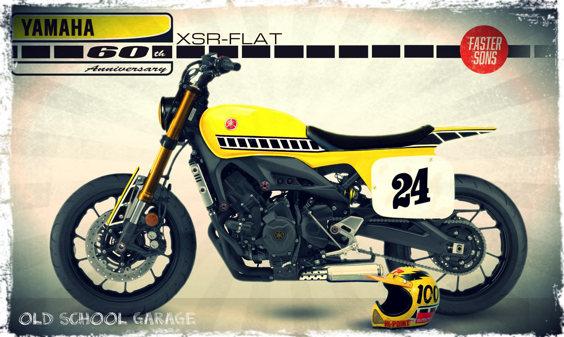 YAMAHA XSR FASTER SONS FLAT TRACK STYLE SPECIAL SCRAMBLER