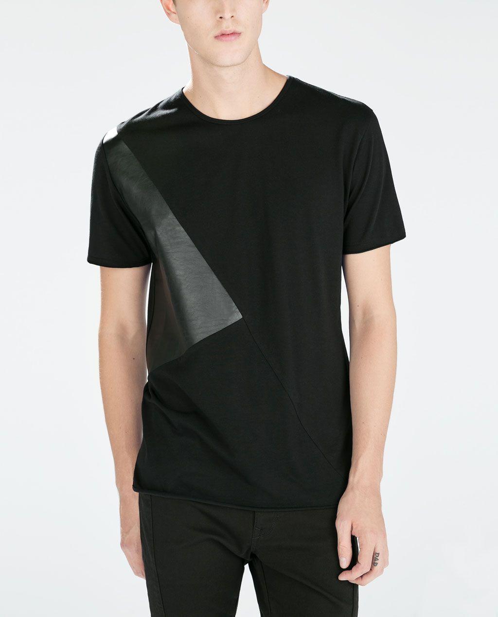 2bc840c8e Zara Mens Black And White T Shirt