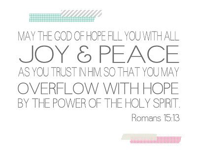 Romans 1513 Printable Bible Quotes