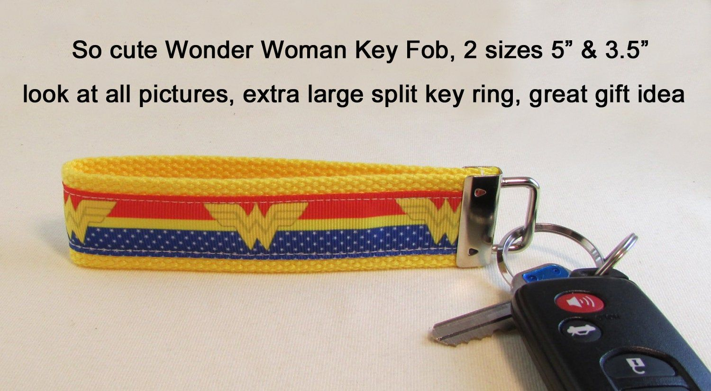 Key Fob, Wristlet, Wonder Woman Key Fob, Great Gift Idea, Keychain, Party Favor, Shower, Accessories, Keychain Lanyard, Superhero Gift Idea #superherogifts