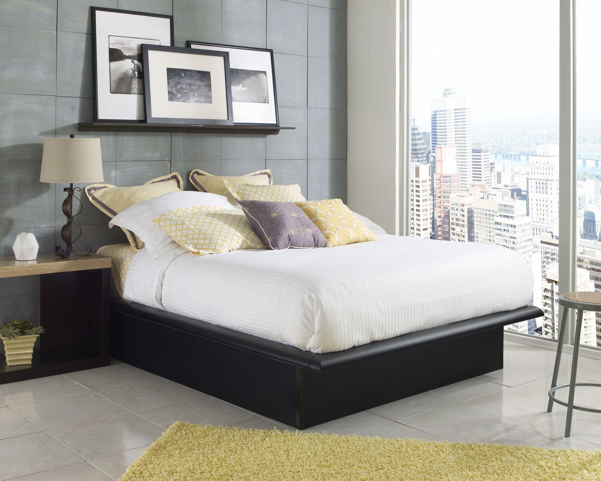 Black Platform Bed The Black Frame Should Look Good Against The