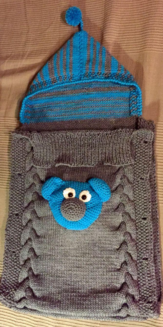 Handgestrickter Babyschlafsack