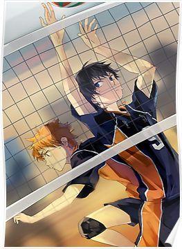 'Haikyuu!! Toss' Poster by banafria | Волейбол, Бесплатные ...