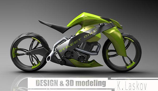 Street Bike No Behance Motorcycle Illustration Futuristic Motorcycle Bike Sketch
