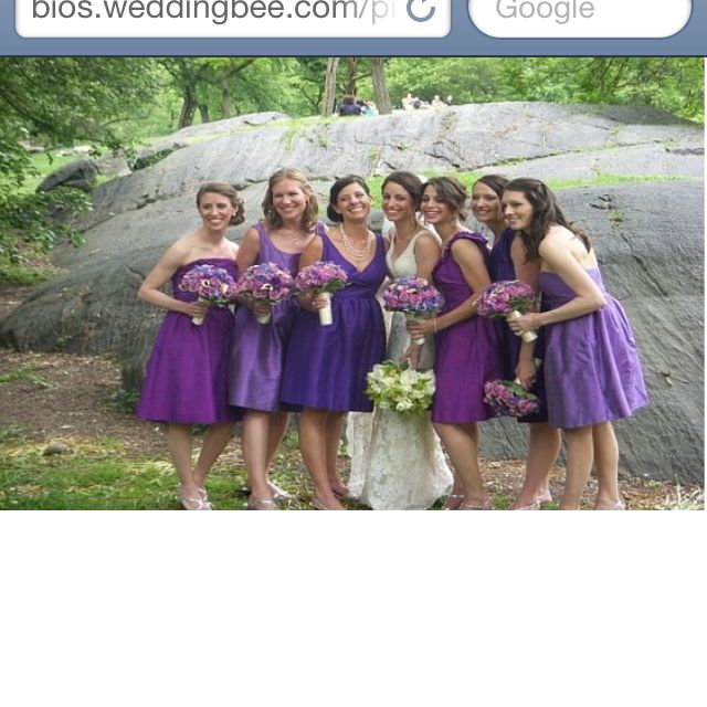 Love The Idea If Different Shades Of Same Color Purple WeddingDream