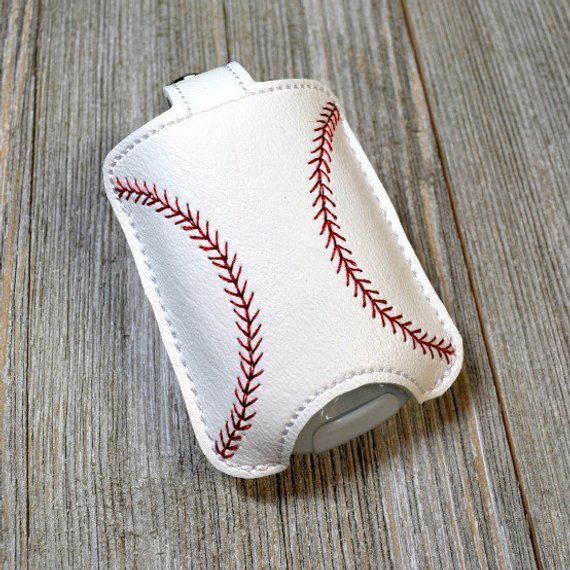 Baseball Hand Sanitizer Holder Sports Bag Tag Sanitizer Key Fob
