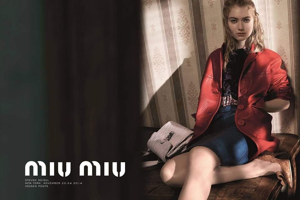 Miu Miu Spring Summer 2015 Advertising Campaign Imogen Poots by Steven Miesel