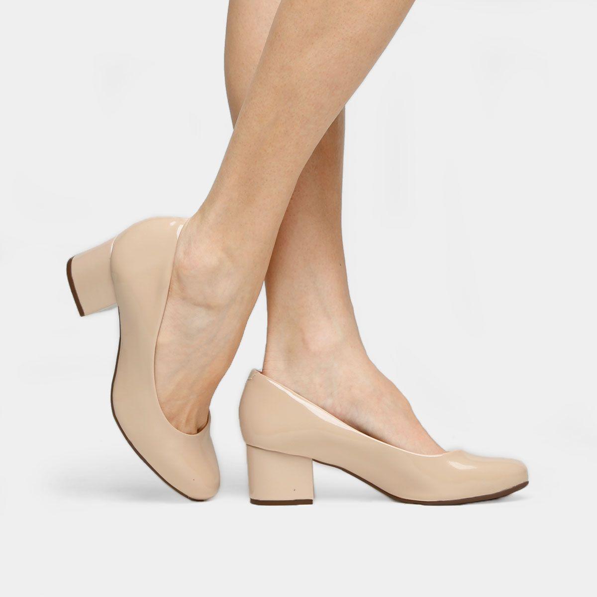 47c18b11ccc62 Compre Scarpin Vizzano Salto Bloco Nude na Zattini a nova loja de moda  online da Netshoes